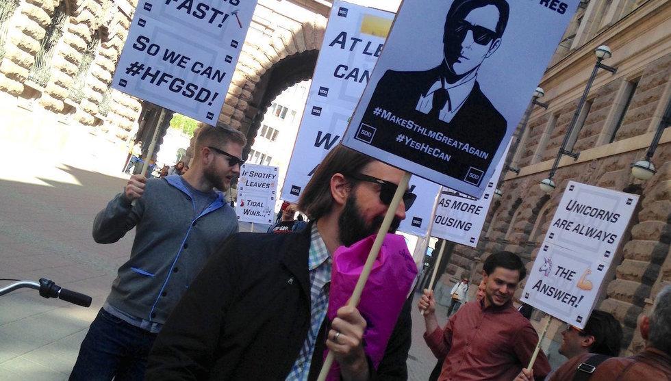 Breakit - 1700 hade anmält sig – men så få dök upp på Sthlm Tech Protest