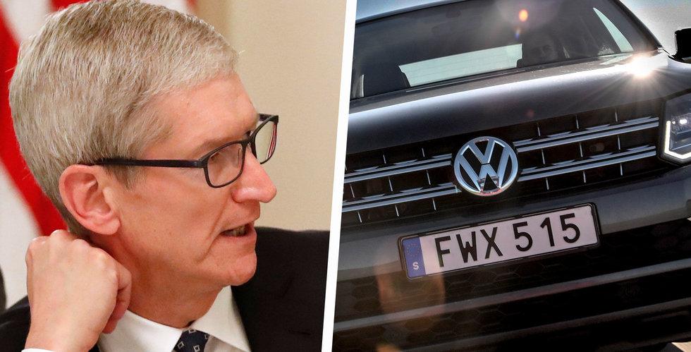Apple och Volkswagen samarbetar om självkörande bilar