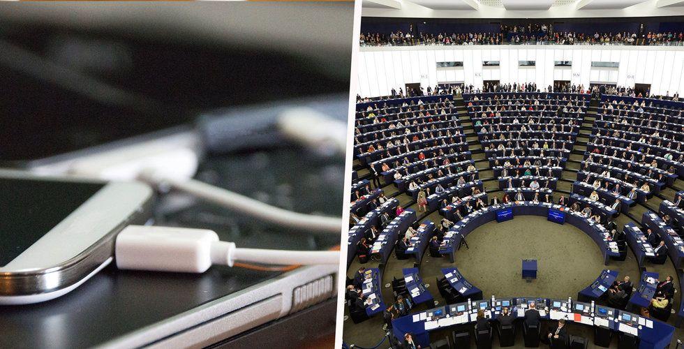 EU-parlamentets krav: Samma laddare för alla mobiler