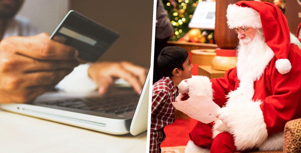 Julklappsköpen online har ökat rejält enligt Postnord