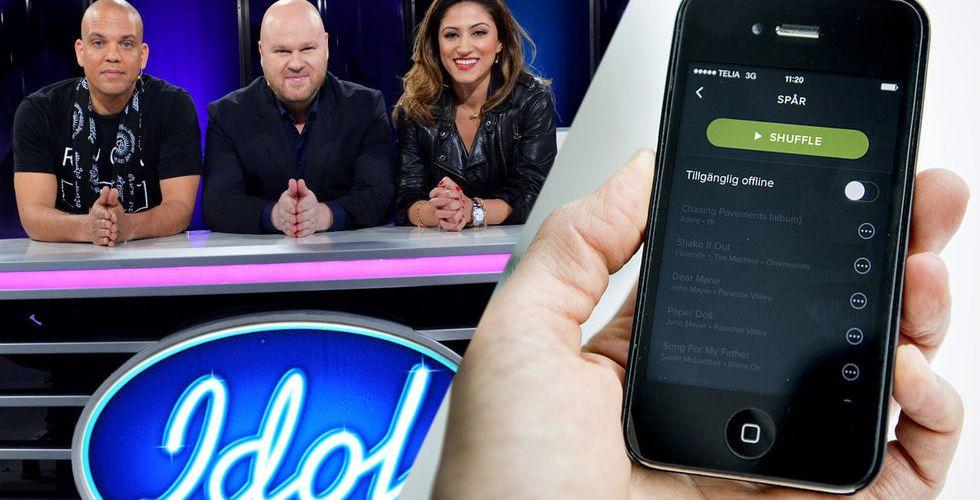 Breakit - Talangjakten Idol får konkurrens av skivbolagsjättarna - och Spotify
