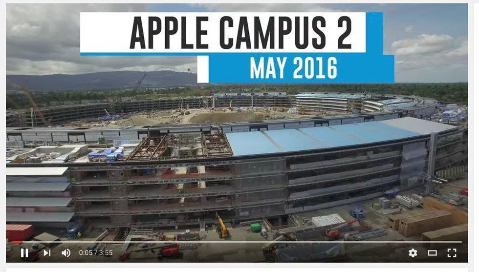 Här tar Apples nya megakontor form - gym på tiotusen kvadrat