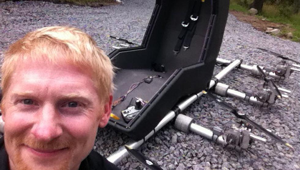 Han är svensken som byggde en persondrönare hemma i garaget