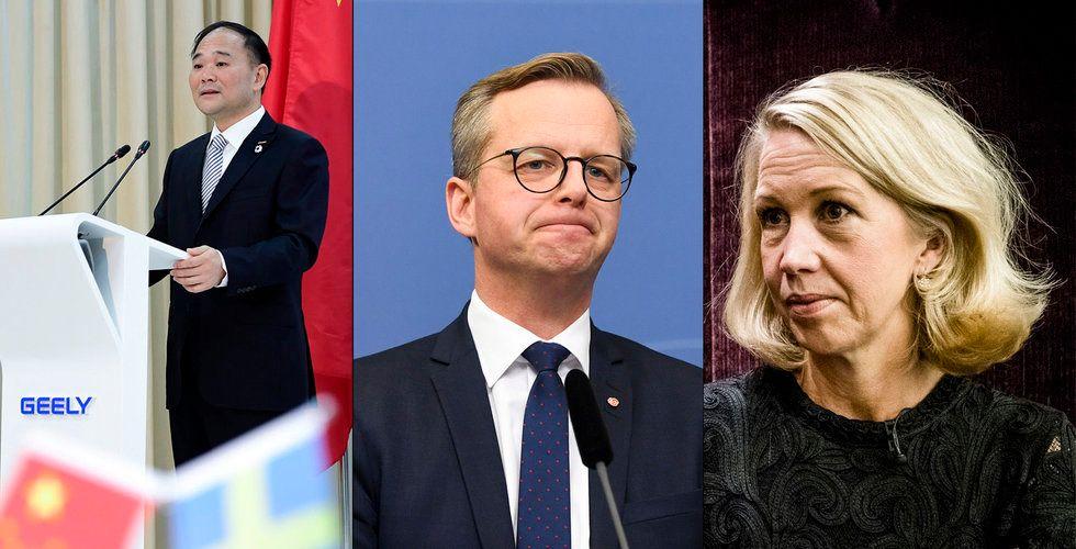 """Stökigt efter Geelys köp i Volvo-konkurrenten – Industrivärden: """"Vi agerar rationellt"""""""