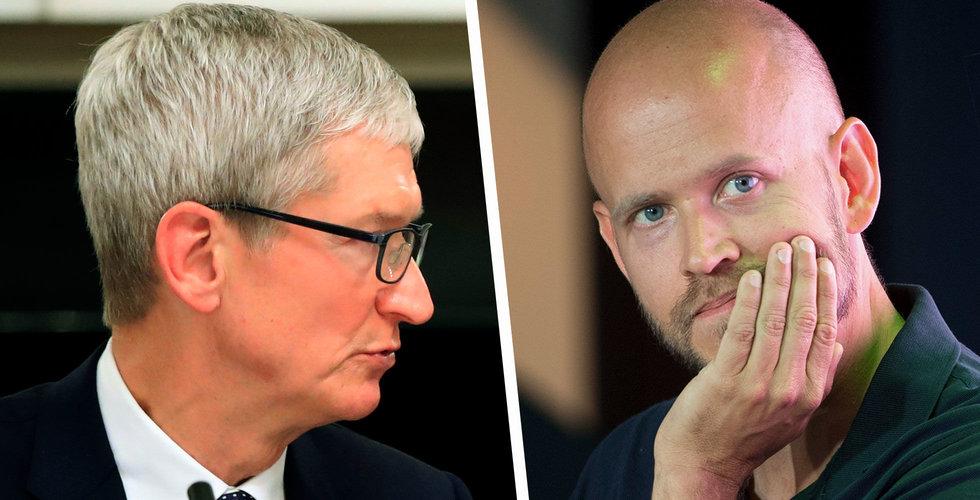 Politiker i Washington önskar information från Spotify om Apple