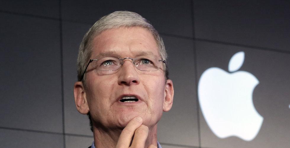 Teknikjätten Apple tappar på börsen efter rapport