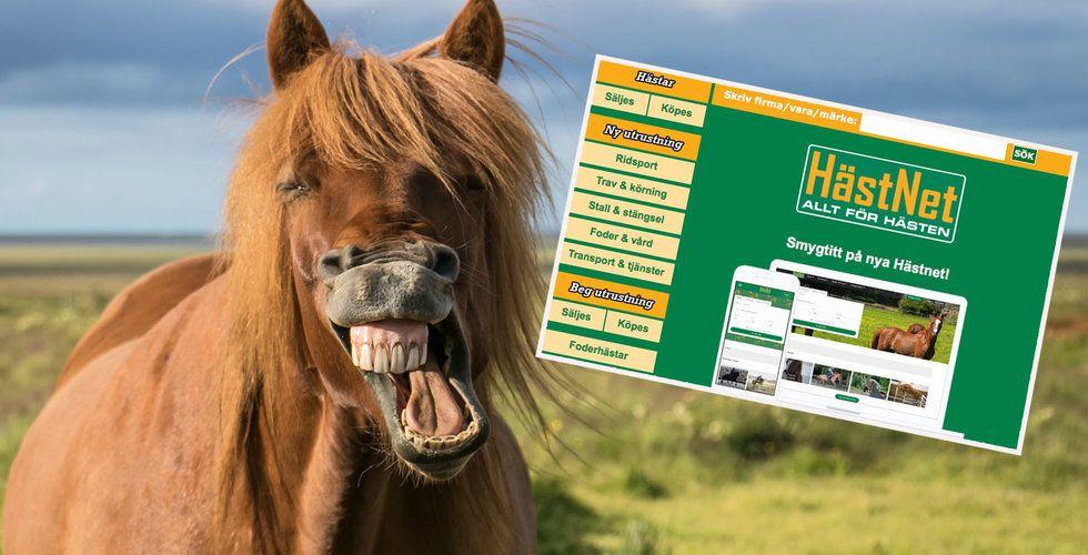 Blocket för hästar, Hästnet, uppköpt av tunga techinvesterare