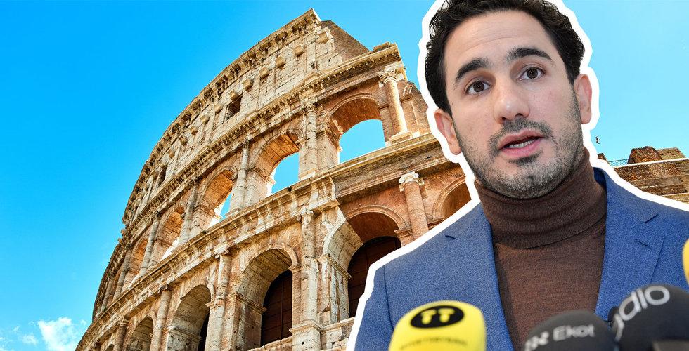 Aradalan Shekarabi åker till Italien – som totalförbjudit spelreklam