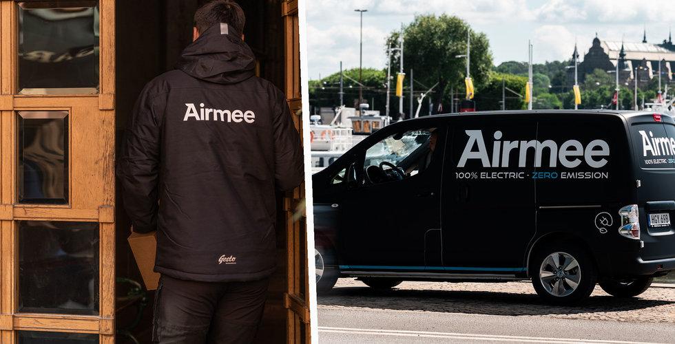 Svenska uppstickaren Airmee fyller kassan – tar in (minst) 125 miljoner kronor