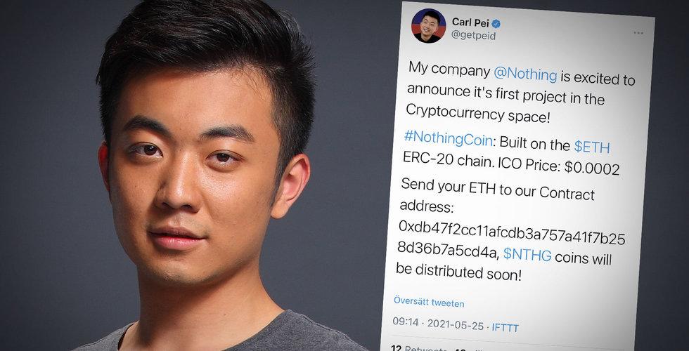 Carl Pei utsatt för kryptobedragare – kapade stjärnentreprenörens Twitter