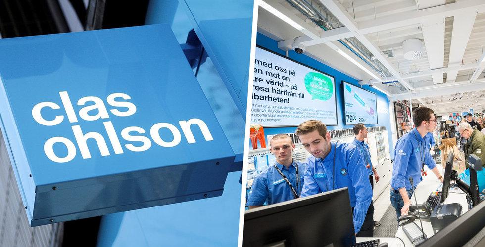 Clas Ohlsons resultat bättre än väntat – försäljningen fortsätter sjunka
