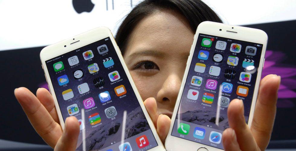 Appköpen hos amerikanska iPhoneanvändare steg kraftigt ifjol
