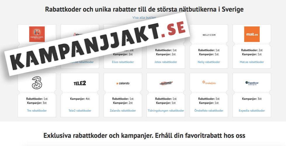 Svensk kampanjsajt säljs för 15 miljoner kronor