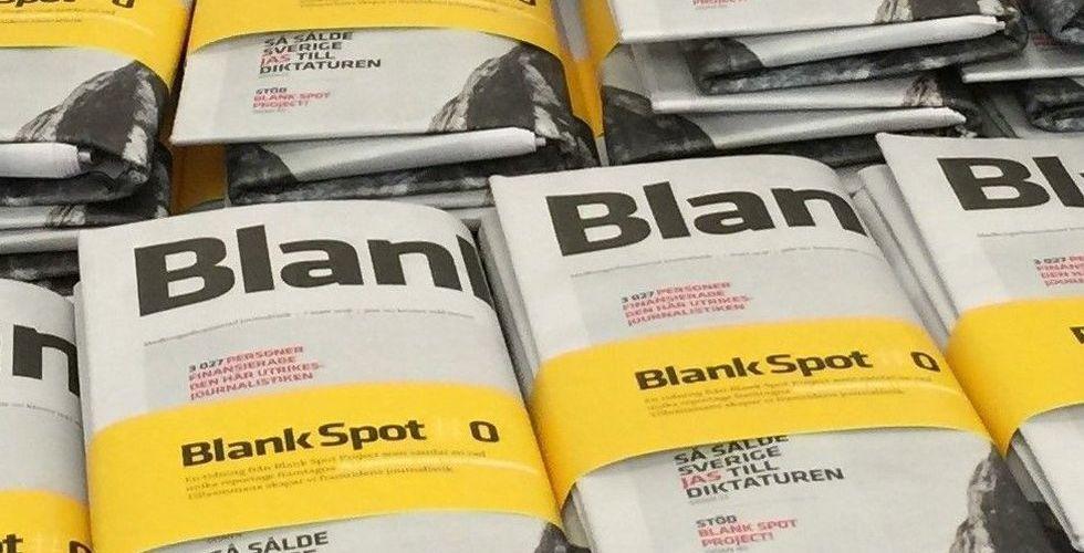 Blank Spot Projects nya satsning: Startar papperstidning