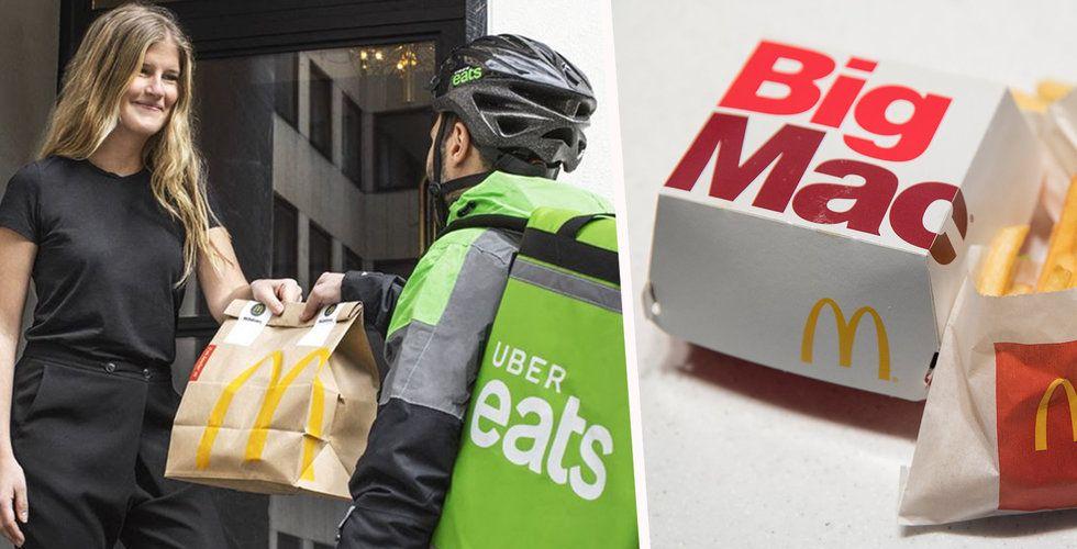 McDonalds samarbetar med Uber Eats – beställ hamburgare direkt till dörren