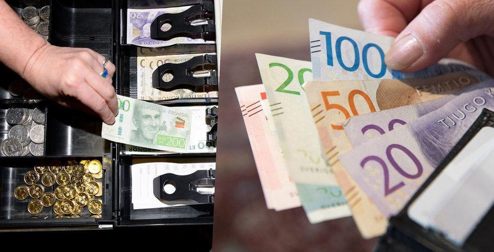 Kris för företaget som trycker Sveriges sedlar