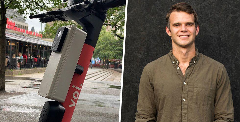 Voi testar teknik som ska få bort elsparkcyklarna från trottoarerna