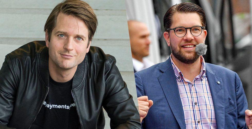 Klarna-chefen: Alla utom Sverigedemokraterna saknar en tydlig vision