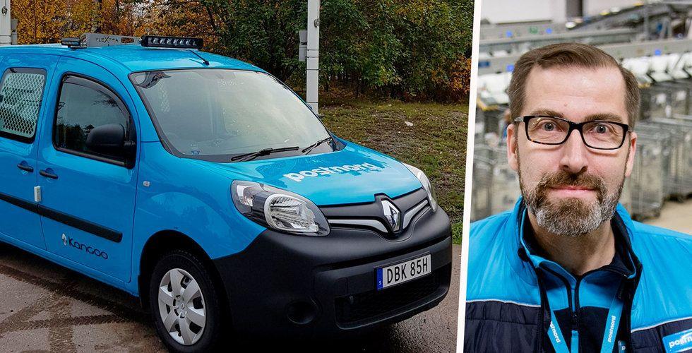 """Postnord om fordonskrisen: """"Posten kan komma lite senare"""""""