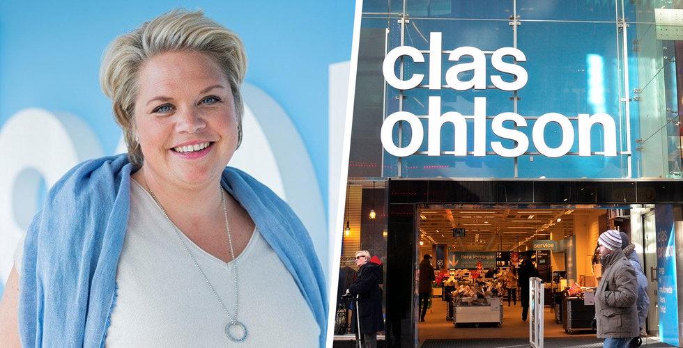 Trots rusningen till nätet – Clas Ohlsons e-handel föll under september