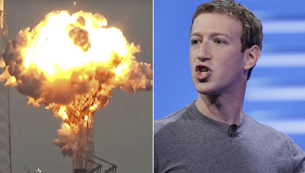 """Zuckerbergs satellit sprängdes hos Space X: """"Väldigt besviken"""""""
