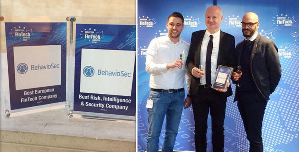 Prisregn över Behaviosec – utsedda till bästa fintechbolaget