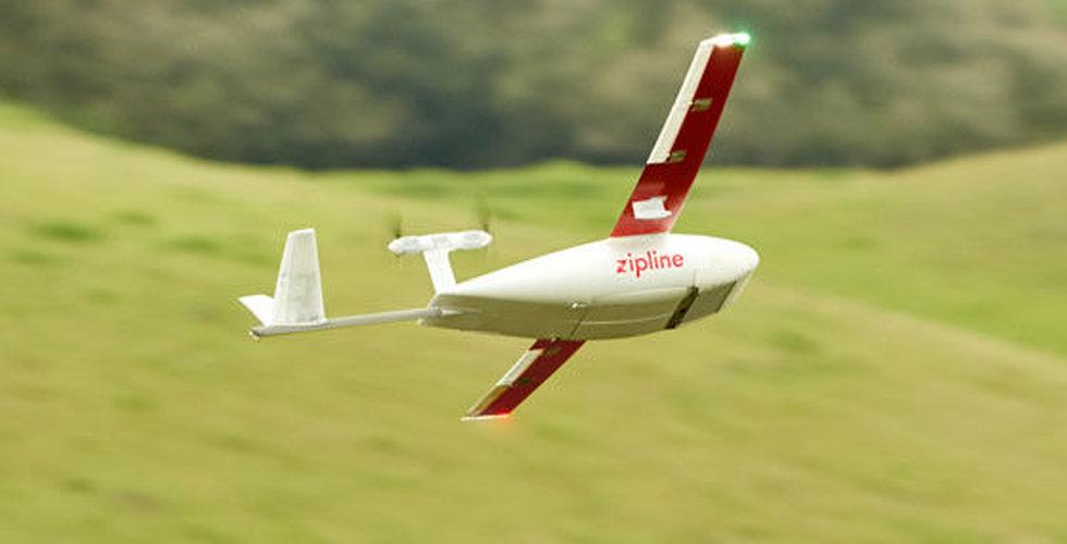Drönarstartupen Zipline fyller på med 190 miljoner dollar