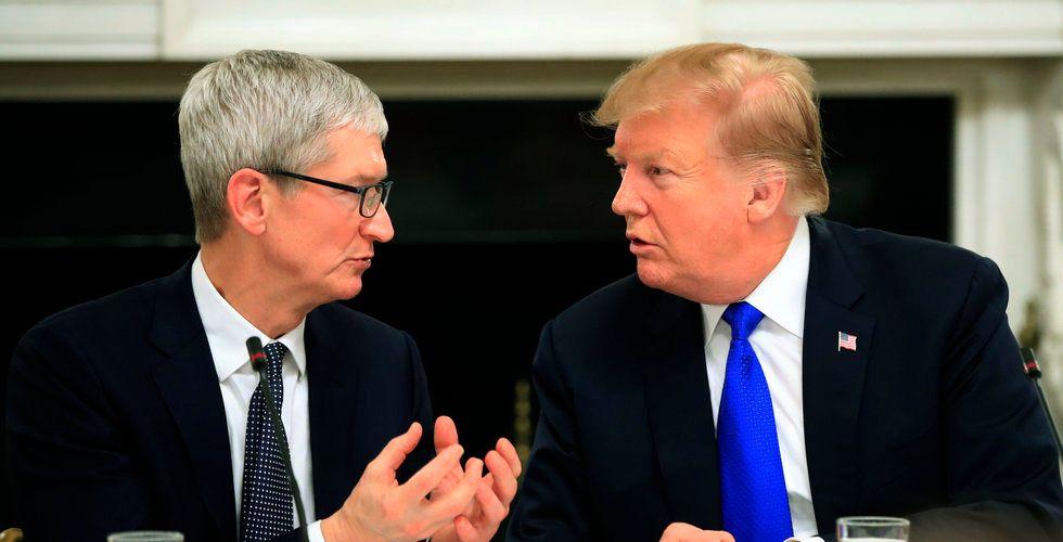 Tim Cook varnar Trump för effekterna av handelskriget