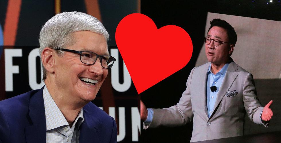 Äntligen! Nu är Apple och Samsung sams igen