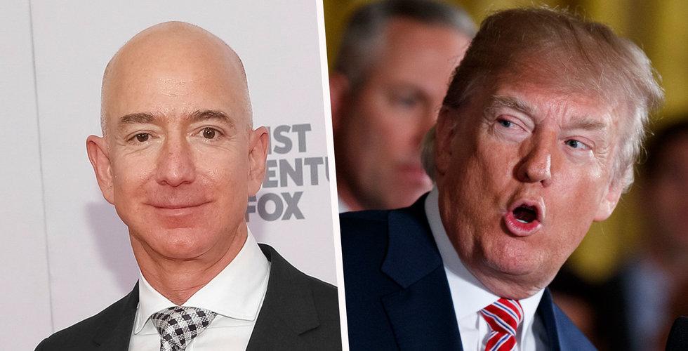 Trots Trump-hot: Amazon på väg mot högsta stängningskursen någonsin