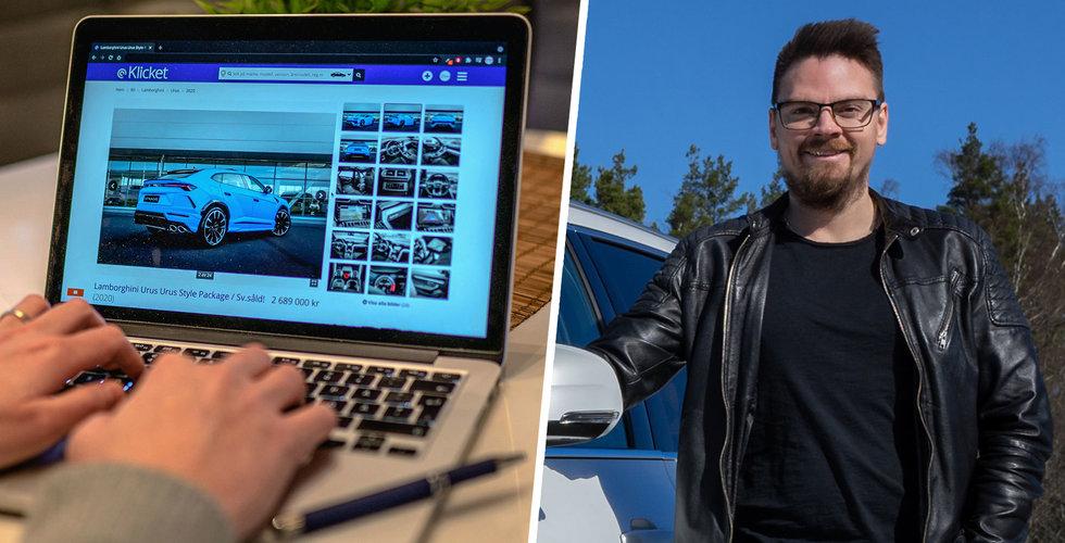 Klicket ska utmana Blocket och Wayke – med ny sajt för fordonsförsäljningar
