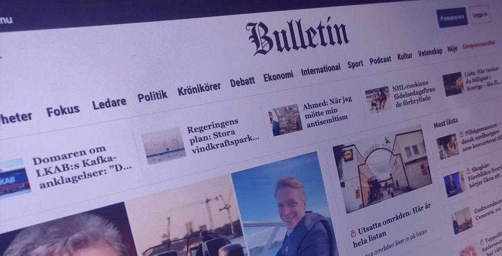 Tuff ekonomisk situation för Bulletin – men chefredaktören har jättelön