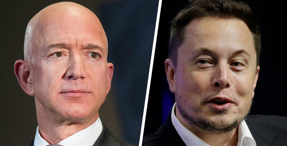 Jeff Bezos lanserar månlandare – hånas av Elon Musk
