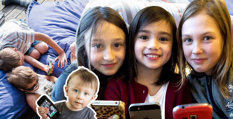 När ska dina barn få egen mobil? Här är svaret svart på vitt