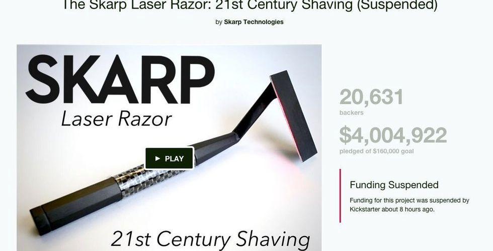 Breakit - Laserhyveln Skarp diskad - blir av med alla Kickstarterpengar
