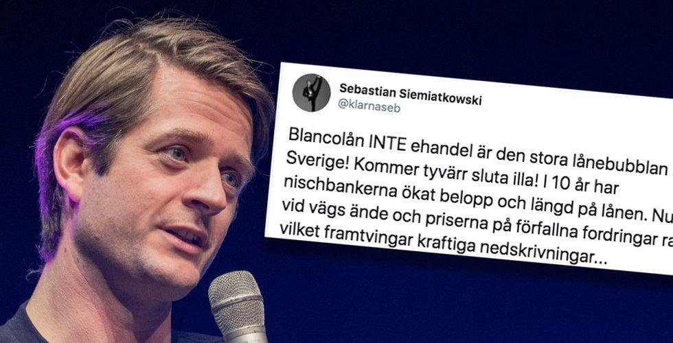 """Sebastian Siemiatkowski på krigsstigen igen: """"Det kommer att sluta illa"""""""