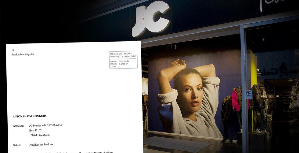 JC går i konkurs