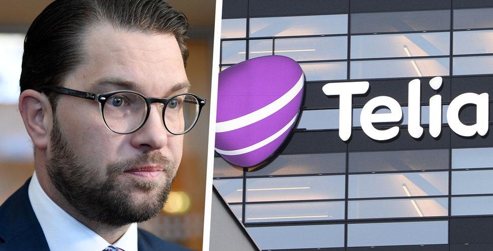 Sverigedemokraterna byter fot, redo att sälja delar av Telia