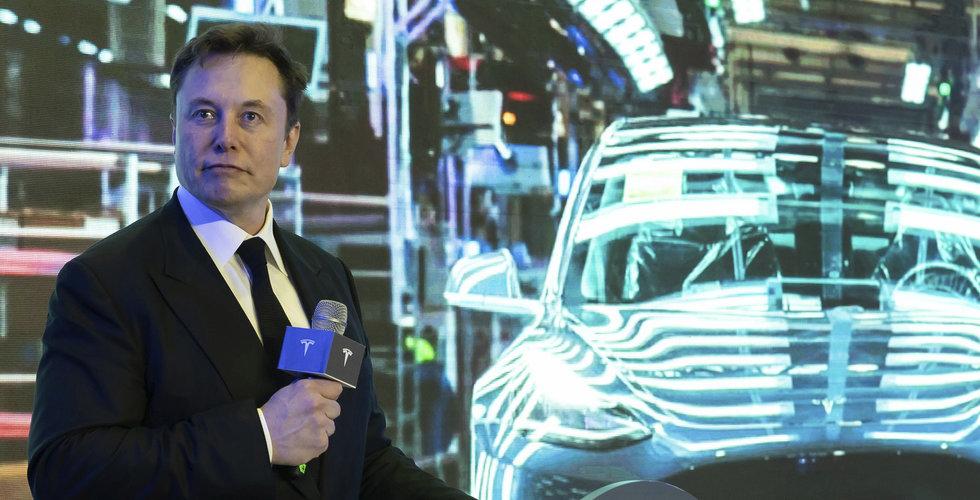 Tesla föll tungt på börsen