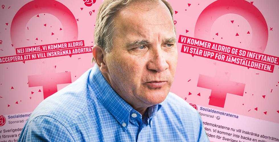 Löfvens valspurt på Facebook  – skrämmer med SD:s abortpolitik