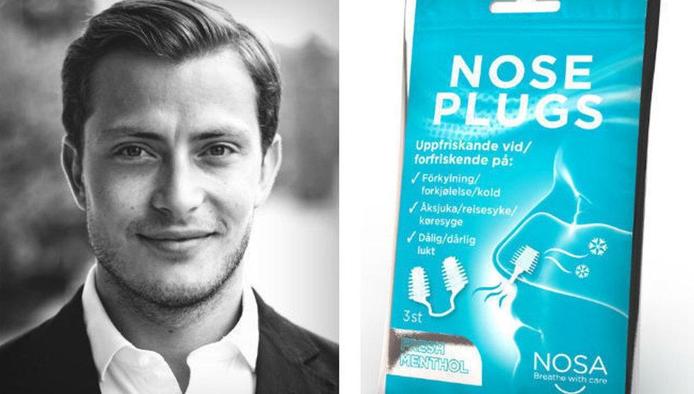 Adrian Liljefors nosar upp ny nisch - får in miljoner till sin näsplugg