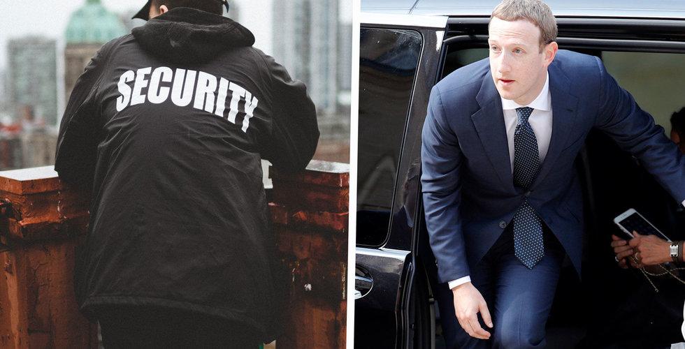 Priset för att hålla Mark Zuckerberg säker: 200 miljoner kronor