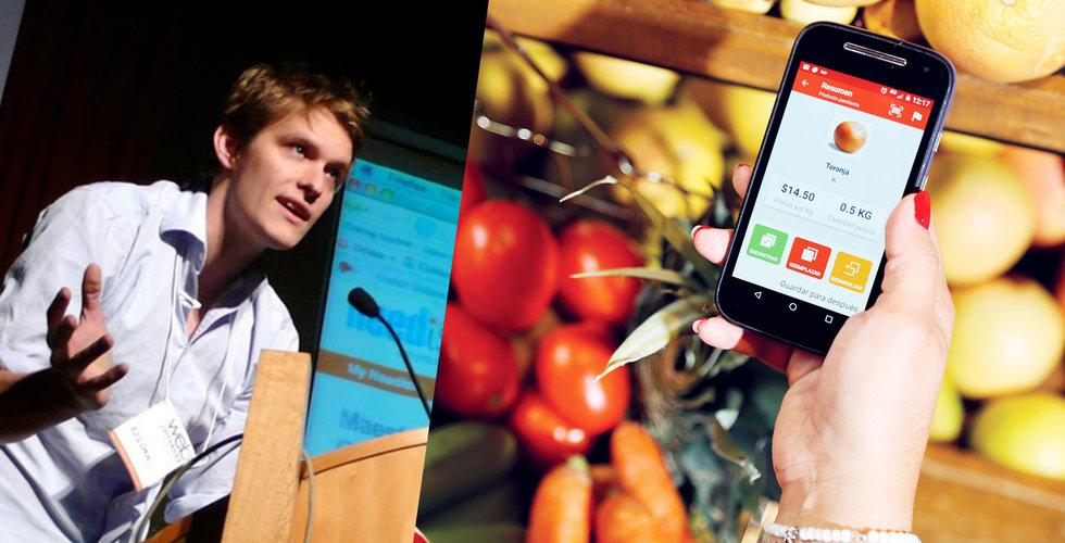 Svenske Oskar Hjertonsson får in 185 miljoner till mat-appen Cornershop