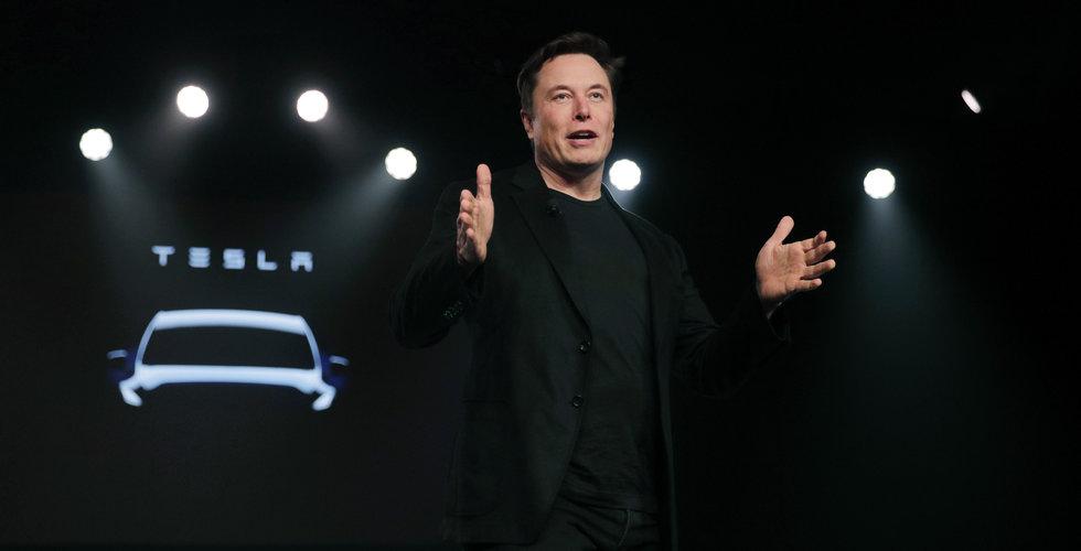 Tesla faller på börsen
