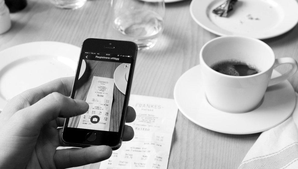 Fota kvittot direkt med din smartphone – glöm traditionell kvittoredovisning