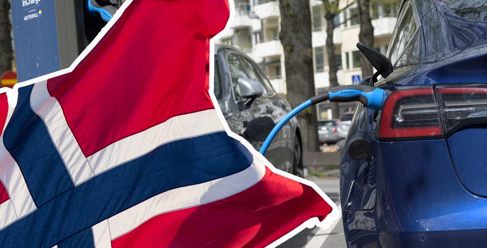 Tronskifte i Norge – varannan bil som säljs drivs enbart av el