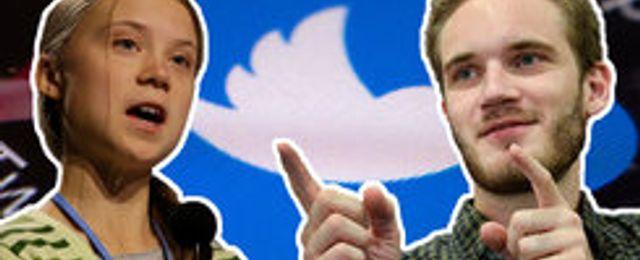 Greta Thunberg och Pewdiepie bland de populäraste på svenskarnas Twitter