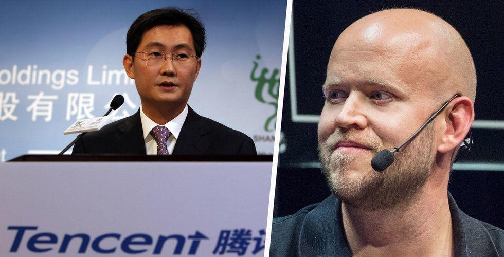 Breakit - Tencent börsnoterar Tencent Music – är delägare i Spotify