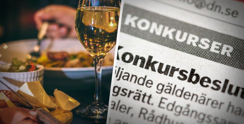 Konkurserna ökar lavinartat i april – hotell och restauranger värst drabbade