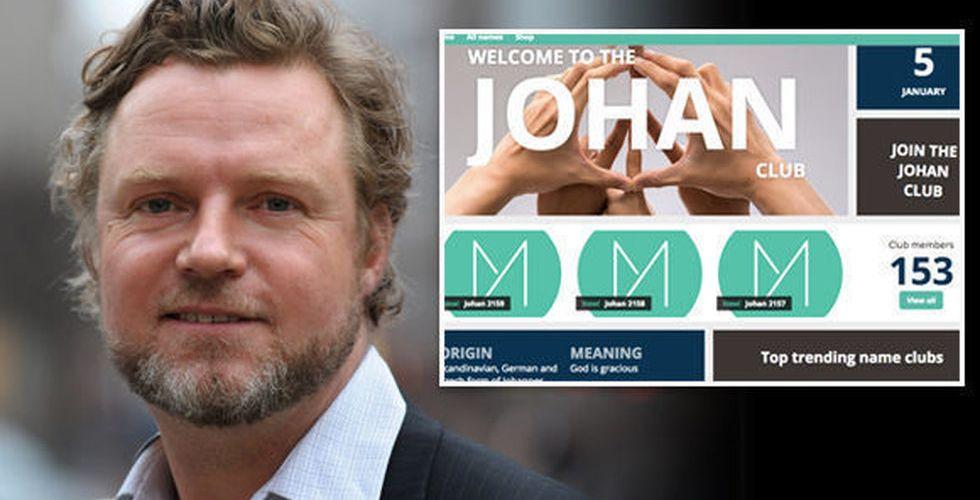 Johan Staël von Holsteins nya startup berättar allt om ditt namn